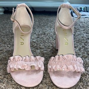 Pale Pink Ruffled Dress Shoes